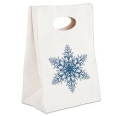 Blue Snowflake Canvas Lunch Tote > Lunch Bags > Atteestude T-Shirts And Gifts  #school supplies