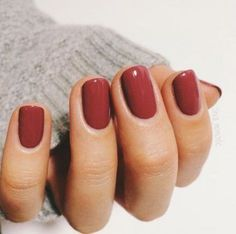 10 Trending Fall Nail Colors to Try in 2020 : 10 Trending Fall Nail Colors to Try in 2019 - The Trend Spotter Looking for the latest fall nail polish colors? We reveal the top trending fall nail colors that will take your nail game to a whole new level. Fall Nail Polish, Nails Polish, Shellac Nails Fall, Red Gel Nails, Dark Red Nails, Matte Nails, Red Orange Nails, Fall Toe Nails, Red Nail Art