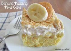 Banana Pudding Hokey Pokey Cake. This banana pudding poke cake is amazing. It's one of the best jello pudding poke cakes that we have!