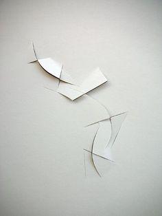 "Antimatter - Vjeko Sager, paper cutouts 12""x 8"""
