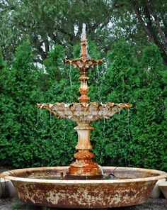 This antique French cast iron triple-tier fountain would add instant timeless appeal to a Victorian-themed garden. From Detroit Garden Works' online store.