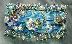 "Born in March 2013, this cuff bracelet became ""Spring's Blossoms"".------------this work is fabulous, I LOVE all of it!!"