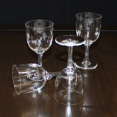 These very cool small wine glasses are the Quartex Star Dust Pattern. Im guessing these are port wine glasses as they hold just 3 ounces. Each measures 5 1/4 inches tall and 2 1/8 inches wide at the rim. No chips or cracks. They are in great vintage condition and will make a sweet addition to your barware collection.  Coco and Coffee Vintage offers sweet vintage finds and handmade items for the eclectic home, as well as vintage and handmade jewelry and accessories for women and men....