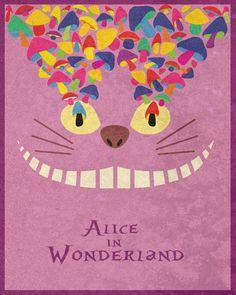 *ALICE IN WONDERLAND ~ Disney Movie Posters by Taylor Denning, via Behance
