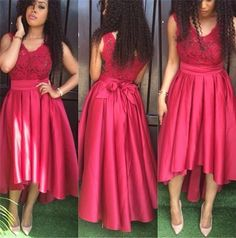 High Low Lace homecoming dress, Off shoulder homecoming dress, short homecoming… Red Wedding Guest Dresses, High Low Bridesmaid Dresses, Cute Homecoming Dresses, V Neck Prom Dresses, Dresses Short, Formal Dresses For Women, Cheap Prom Dresses, Dress Prom, Dress Long