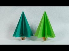 (277) Easy Paper Tree - Origami Christmas Tree Tutorial (Henry Phạm) - YouTube