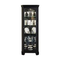 Oxford Black Corner Curio Cabinet