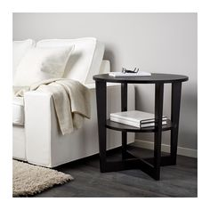 VEJMON Side table IKEA Separate shelf for magazines, etc. helps you keep your things organized and the table top clear.