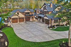 Craftsman Style House Plan - 7 Beds 8.5 Baths 8515 Sq/Ft Plan #132-218 Exterior - Front Elevation - Houseplans.com