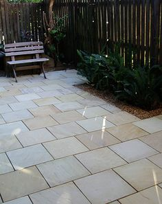 Himalayan Sandstone in a courtyard Brisbane