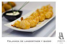 Foljhada de langostinos y queso #boda #catering #jaca #andalucía #gourmet