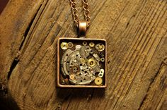 Antique Copper steam punk necklace by BluePendulum on Etsy