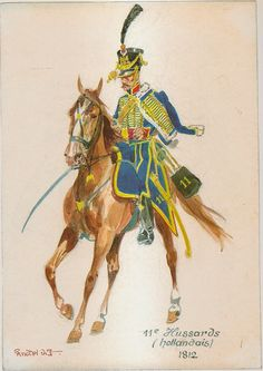 French; 11th Hussars 1812, by Herbert Knötel.