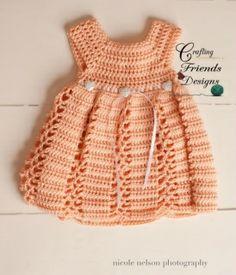 Ribbon & Lace Dress Infant Crochet Patterns - Crafting Friends Designs