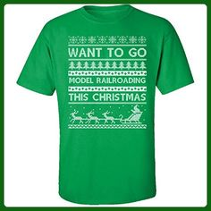 Want To Go Model Railroading This Christmas Hobbies Ugly Sweater - Adult Shirt - Holiday and seasonal shirts (*Amazon Partner-Link)