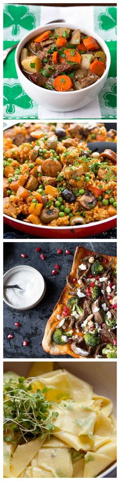 What We're Making for Dinner This Week. Here are the five dinners we're diving into this week, from Irish beef stew to Indian beef flatbread.
