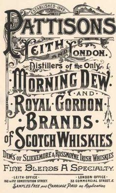 Vintage Graphic Design vintage signage, more Victorian than Prohibition era - Vintage Logos, Vintage Typography, Vintage Labels, Vintage Advertisements, Vintage Ads, Vintage Posters, Vintage Type, Vintage Graphic, Vintage Branding