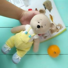 Mascot Refreshing And Beneficial To The Eyes Collectable Toy Hand Made Hand Knitted Miniature White Teddy Bear
