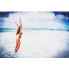 @sailandsasss photo: Salt water runs deep in our beach gypsy veins @yuihartman in #sanlorenzobikinis yellow bow back brief! #SAILANDSASS #bikinis #bikini #cheeky #love #swim #sail #surf #surfer #ocean #beach #fashion #summer #northshore #hawaii #longisland #goldcoast #swimwear