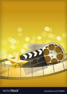 Cinema golden background vector image on VectorStock Film Background, Golden Background, Background Hd Wallpaper, Instagram Background, Background Design Vector, Watercolor Background, Free Vector Images, Vector Free, Cute Disney Drawings