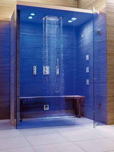 Grohe F-Digital Deluxe Complete Steam Shower Bathroom Design Luxury, Modern Bathroom Decor, Bathroom Styling, Steam Room Shower, Bathroom Vanity Store, Spa Inspired Bathroom, Sauna Design, Bathroom Design Inspiration, Modern Shower