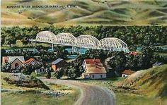 Chamberlain South Dakota SD 1940s Missouri River Bridge Antique Vintage Postcard