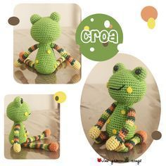 frog pattern. Not in English but if you know the basics of amigurumi you can use the stitch counts at the end of each round to easily figure it out.