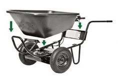 Haul heavy loads with ease when you use the PAW Electric Wheelbarrow. The powerful battery operating system will haul virtually whatever you put in it. Motorized Wheelbarrow, Powered Wheelbarrow, Electric Wheelbarrow, Wheelbarrows For Sale, Lawn And Garden, Garden Tools, 24 Volt Battery, Trailer Dolly, Portable Power Generator