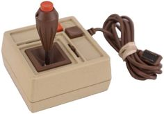 Vintage Hayes Gaming Joystick Controller - beige and brown for Apple II - CH Products - Mach