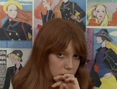 "Anne Wiazemsky in ""La Chinoise"" (1967, Jean-Luc Godard) / Cinematography by Raoul Coutard"