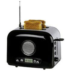OBH Nordica leivänpaahdin radiolla