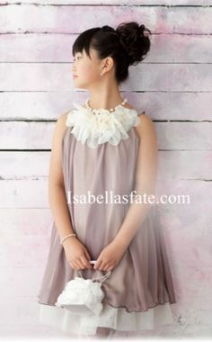 Double Layer Chiffon Short Baby Doll Flower Girls Dress in 7 Color Choices