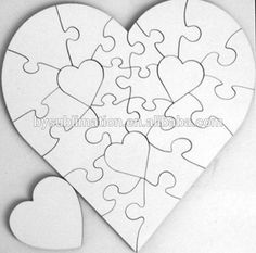 MDF Blank Jigsaw Puzzle For Heat Press Sublimation A4 Size 60 Piece