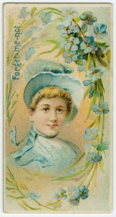 Forget-me-not - 'Remembrance' in the Victorian Language of Flowers.