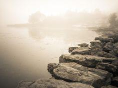 Misty coast by Lidia, Leszek Derda on Coast, Explore, Black And White, Nature, Travel, Naturaleza, Viajes, Black N White, Black White