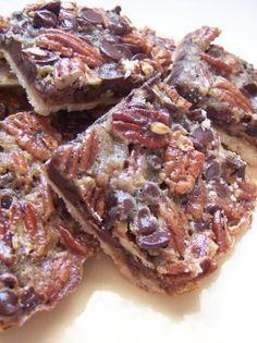 #Chocolate #Pecan Pie #Bars. #sogood