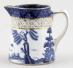 Booths Real Old Willow Tankard Jug c1930