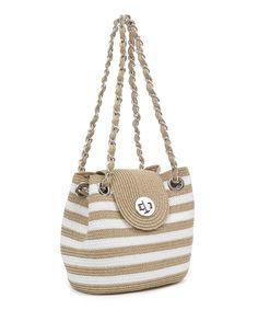 Look what I found on #zulily! Magid White & Toast Stripe Shoulder Bag by Magid #zulilyfinds
