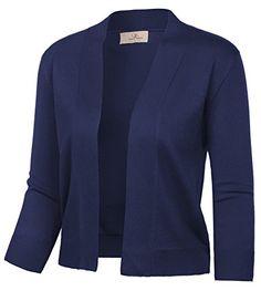 748b9a1d21 GRACE KARIN Womens Three Quarter Sleeves Cropped Sweater (XL Navy 2003)  GRACE KARIN Women s Three Quarter Sleeves Cropped Sweater (XL Navy 2003)   19.99 1 ...