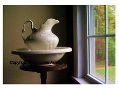 Antique Pitcher and Basin by Window 8X10 by SpringHouseCreations, $22.00