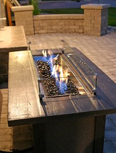 Our Favorite Outdoor Fire Features - gas fire table. Patio Pleasures in Madison, WI