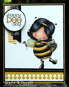 "Paper Perfect Designs by Kim O'Connell: Tiddly Inks ""Happy Bee Day"""