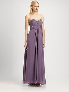 For Alana: Aidan Mattox Sequined Strapless Gown