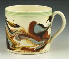 Superb 19th C Mochaware Mocha Ware Child's Mug