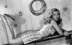 In-flight entertainment often came in the form of live music and singing. In 1941, a press event was held on board a Navy cargo plane. It circled New York for three hours while hacks were wined, dined, and treated to an appearance by Hollywood star Veronica Lake.   Picture: GETTY