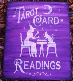 Witches Signs Cats Tarot Card readings halloween decorations party Astrology Witches Plaques Primitives Vintage Gypsies primitive black cat by SleepyHollowPrims, $27.00 USD