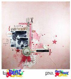 By Ceriz pour Spray & Scrap #scrapbook