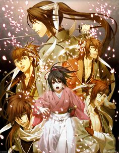 """Seen one or two episodes of the anime, played the visual novel it's based on. Seems really good so far, watch if you want romance, politics and """"ancient times"""" anime. Has a slight mystical part with it too. Best Action Romance Anime, Anime Love, Anime Shojo, Film Animation Japonais, Samurai, Tous Les Anime, Anime Reccomendations, Fandom, Anime People"""