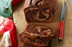 Chocolate-Marbled Banana Bread recipe JUST TOP WITH PEANUT BUTTER, PURE HEAVEN, making today!