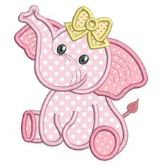 This baby girl elephant applique machine embroidery design is so cute. 3 design sizes are included with your purchase: hoops. Lots of popular machine formats. Step by step applique instructions are included. Baby Applique, Elephant Applique, Baby Embroidery, Machine Embroidery Applique, Applique Quilts, Elephant Quilts Pattern, Applique Embroidery Designs, Embroidery Jewelry, Applique Templates